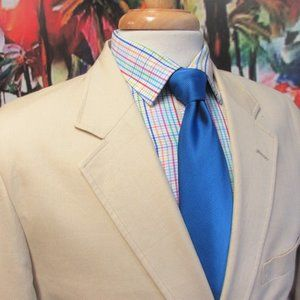 44 R- ALAN FLUSSER BISQUE 100% COTTON SPORT COAT